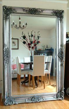x Silver Rococo Style Mirror Dressing Mirror, Rococo Style, Mirrors, Mirror Mirror, Living Room Inspiration, Home Decor Styles, Oversized Mirror, Silver, House