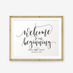 SALE Personalized Wedding Sign Welcome To Our by PrintableSky