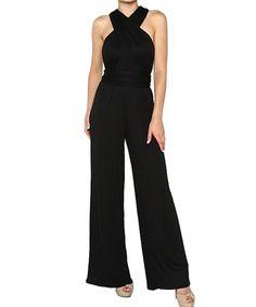 This Stanzino Black Y-Back Jumpsuit - Women by Stanzino is perfect! #zulilyfinds