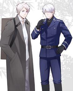 Tags: Anime, Cross, Cigarette, Axis Powers: Hetalia, Prussia, Mushishi, Ginko Mushishi