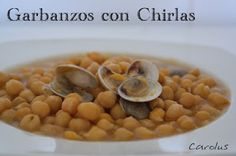 Garbanzos con chirlas - Carolus Cocina