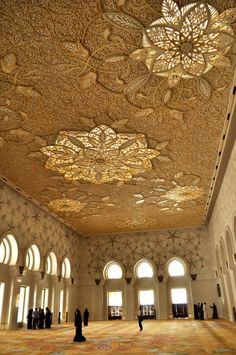 Ceiling Detail of Abu Dhabi's Grand Mosque