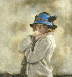''The Blue Hat by Sir William Orpen''. Orpen's considerable flair made him very successful in his lifetime. Now considered rather superficial Orpen's work has fallen from favour.