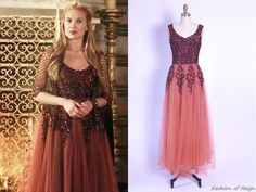 Vintage Emma Domb embellished tulle gown from Reign Reign Dresses, Royal Dresses, Tulle Gown, Beaded Gown, Custom Dresses, Vintage Dresses, Adelaine Kane, Reign Fashion, Fairytale Fashion