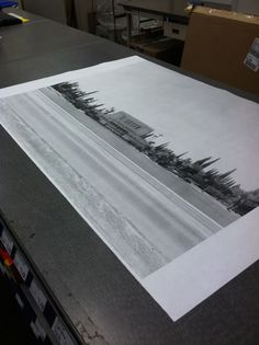 """""""For only $4 they printed my image on their large format blueprint printer. The largest size you can do is 48 wide, but mine is 36. Its so inexpensive because the paper is nothing special and you can only have black and white. But its huge and graphic and so affordable!"""""""