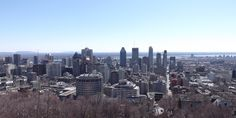 Downtown Montreal, Quebec, Canada as seen from Mont Royal.