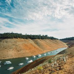 """Day 798 [8-26-15] """"Deepest Moat"""" - The Bidwell Marina is now dwarfed by the exposed lakebed.  Lake Oroville, CA is 225 feet (or 69%) below full capacity (weekly series: """"Drought"""" 