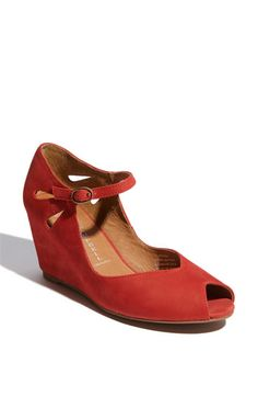 "Cute little red wedges. Jeffrey Campbell ""Regina"""
