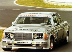 Claassen-Mercedes 280 CE at a race of the Veedol Langstreckenpokal sometime in the 80s