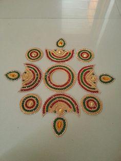 Diwali Craft, Diwali Diy, Diy Diwali Decorations, Festival Decorations, Rangoli Ideas, Rangoli Designs, Hobbies And Crafts, Diy And Crafts, Arts And Crafts