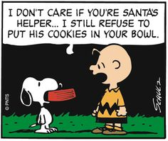 'Snoopy is Santa's helper', Charlie Brown and the Peanuts gang. Peanuts Christmas, Charlie Brown Christmas, Charlie Brown And Snoopy, Merry Christmas, Christmas Ideas, Christmas Crack, Die Peanuts, Peanuts Snoopy, Schulz Peanuts