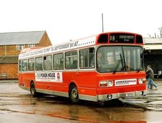 An old Midland Red bus at Banbury Bus Station in the Pembroke Dock, Red Bus, Bus Station, Buses, Old Town, In This Moment, Memories, History, 1980s