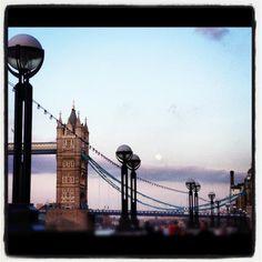 Full Moon Tower Bridge London by @tlow86