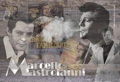 Schilderij Marcello Mastroianni - Loekie Grijspaardt - 120x80 cm