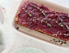 DIY-Anleitung: Vegetarischen Linsenhackbraten mit Cranberry-Sauce selber machen  via DaWanda.com