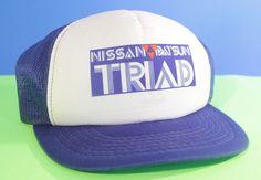 Nissan Datsun Hat Snapback Baseball Cap Mesh Adjustable Red White Blue # #Snapback