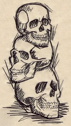 Shadowy Skulls | Urban Threads: Unique and Awesome Embroidery Designs
