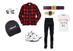"""""""Untitled #13"""" by deniaparham on Polyvore featuring Jordan Brand, AMIRI, Urban Outfitters, Gucci, Rolex, 21 Men, VALLEY, men's fashion and menswear"""