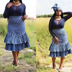 2018 Shweshwe Traditional Dresses Traditional Wedding / Dresses And Wear ⋆ Setswana Traditional Dresses, African Fashion Traditional, African Inspired Fashion, Latest African Fashion Dresses, African Dresses For Women, African Print Dresses, African Print Fashion, African Clothes, Ankara Fashion