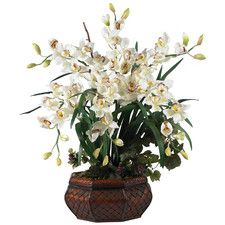 152 best boston images on pinterest beautiful flowers garden and large cymbidium silk flowers in white tropical room decor inspiration nearly natural silk mightylinksfo