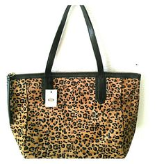 Fossil Sydney Shopper Cheetah Bag Never used original fossil bag with original tag Fossil Bags Totes