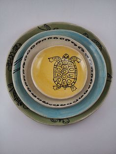 Gopher Tortoise hatchling bread/app. plate