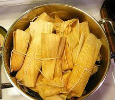 Tamales- hard work, but they taste soooooo good!