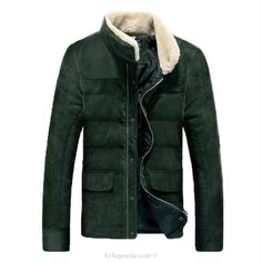 Men Casual Cotton Padded Stand Collar Jacket | 81Supreme
