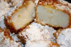 I know, it sounds weird... but this is a sweet dessert with a delicate flavor of nutmeg, its crispy on the outside, smooth and custardy on the inside. It was love at first bite for me..