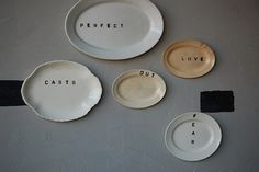 Accessories: Plates with Words as Decor : Remodelista