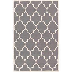 Transit AWHE-2017 Gray/White Modern Premium Wool Rug