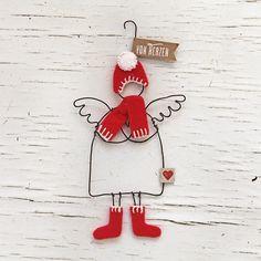 Good old Friends Winter Schutzengel Merry Christmas Christmas Angels, All Things Christmas, Christmas Time, Christmas Crafts, Xmas, Dyi Crafts, Wire Crafts, Old Best Friends, Sketch Notes