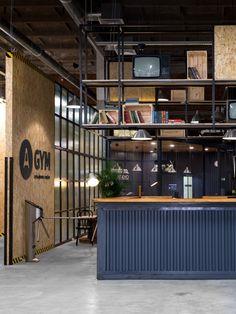 A-GYM fitness club by Alex Feskov – Klin, Russia Club Design, Gym Design, Gym And Kitchen, Mini Gym, Gym Bar, Fitness Studio, Gym Fitness, Home Gym Decor, Gym Interior