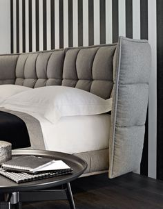 Bed: HUSK - Collection: B&B Italia - Design: Patricia Urquiola
