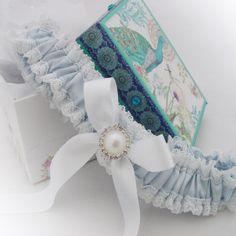 White pearl bridal garter