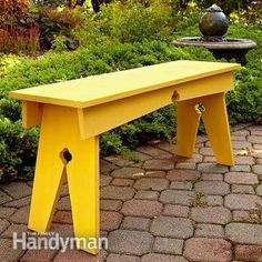 Build this inexpensive, DIY-friendly wooden bench with just a few pine boards. With classic cloverleaf details, it's perfect for a garden or cabin.
