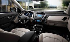 2015 Hyundai Tucson  Interior décor with flair reflects your youthful style #4x4 #SUV #Hyundai #هيونداي #الاردن