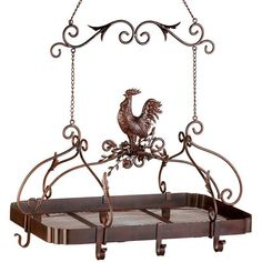 Country Rooster Kitchen Pot Rack                                                                                                                                                                                 More