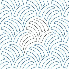 "Woven Wind - Paper - 12"" - Quilts Complete - Continuous Line Quilting Patterns"