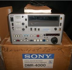 Sony DMR-4000 Digital Master Recorder *COMPLETE* with manual tested/working RARE #Sony