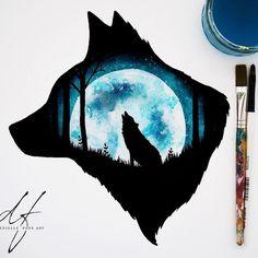 Фотография Galaxy Painting, Galaxy Art, Wolf Painting, Painting & Drawing, Cool Art Drawings, Animal Drawings, Wolf Artwork, Wolf Spirit Animal, Wolf Wallpaper