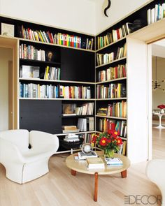 black shelving for the #library