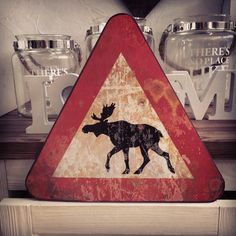 Metal sign with moose :) www. miahome.pl
