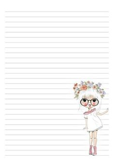 Stationary Printable, Printable Lined Paper, Lined Writing Paper, Printable Recipe Cards, Cute Notes, Notebook Paper, Stationery Paper, Note Paper, Planner Pages
