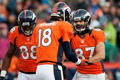 Eric Decker and Demaryius Thomas winning together as wide receivers for the Denver Broncos.