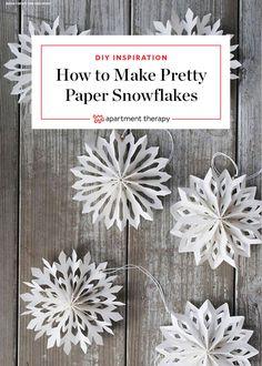 Nine Ways To Take Paper Snowflakes To The Next Level Paper Snowflake Patterns and Next Level Projects Making Paper Snowflakes, Paper Snowflake Patterns, Diy Christmas Snowflakes, Snowflake Craft, Christmas Crafts, Paper Snowflake Template, Decorating With Snowflakes, Cut Out Snowflakes, Snowflake Origami