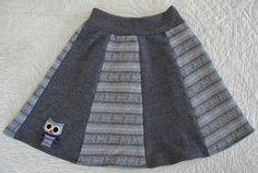 Recycled wool owl skirt tutorial