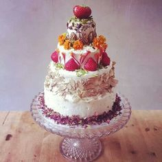 Fruity tiered cake