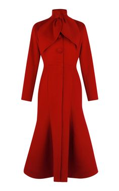 Trumpet Coat by Vika Gazinskaya for Preorder on Moda Operandi