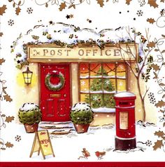 post office with british mail box - Post Office Christmas Hours